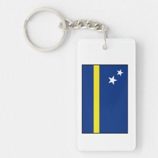 Curaçao - bandera de Curacaoan Llavero Rectangular Acrílico A Doble Cara