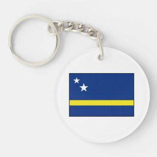 Curaçao - bandera de Curacaoan Llavero Redondo Acrílico A Doble Cara