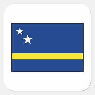 Curaçao - bandera de Curacaoan Pegatina Cuadrada