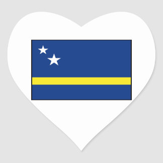 Curaçao - bandera de Curacaoan Pegatina En Forma De Corazón