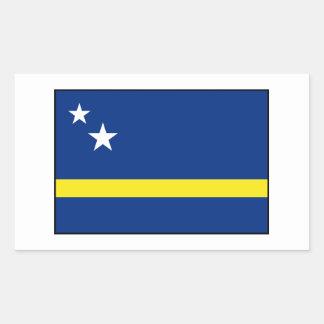 Curaçao - bandera de Curacaoan Pegatina Rectangular