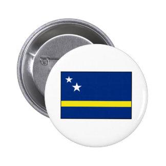 Curaçao - bandera de Curacaoan Pin Redondo De 2 Pulgadas