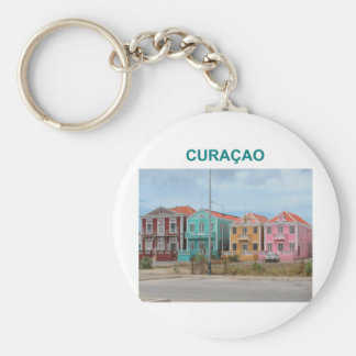 Curacao Basic Round Button Keychain