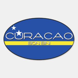 Curacao - Bon Bini Oval Sticker