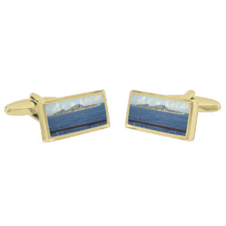 Curacao Coastline Gold Cufflinks