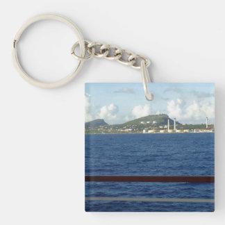 Curacao Coastline Acrylic Keychains