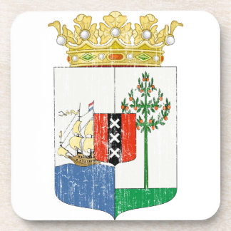 Curacao Coat Of Arms Beverage Coaster