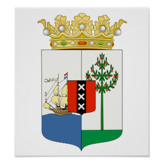 Curacao Coat Of Arms Poster