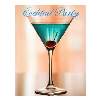 Curacao cocktail flyer