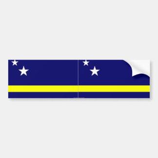 Curacao flag bumper sticker car bumper sticker