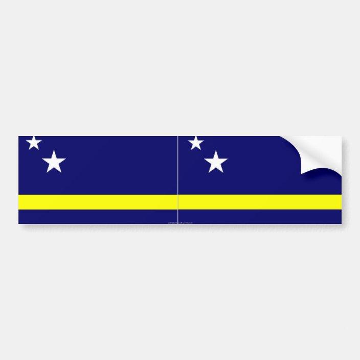 Curacao Flag Design Vinyl Decal Bumper Wall Laptop Window Sticker 5 Coat of Arms