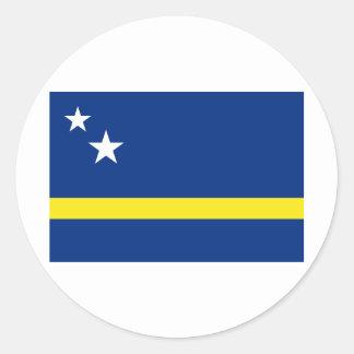 Curacao Flag CW Classic Round Sticker