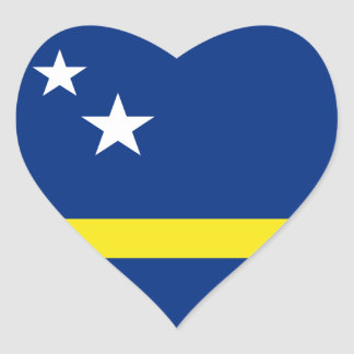 Curaçao Flag Heart Sticker