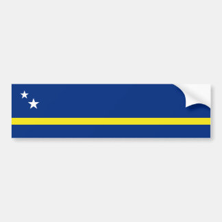 Curacao Flag, Netherlands/Dutch Car Bumper Sticker