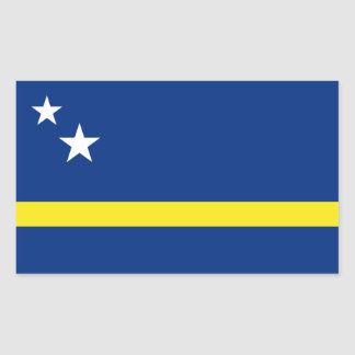 Curacao Flag, Netherlands/Dutch Rectangular Sticker
