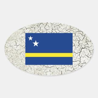 Curacao Flag Oval Sticker
