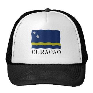 Curacao flag trucker hat