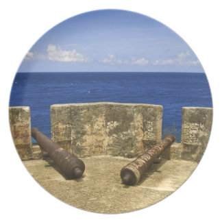 Curacao. Fort Beekenburg Caracas Bay. Melamine Plate
