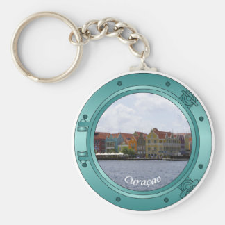 Curacao Porthole Basic Round Button Keychain