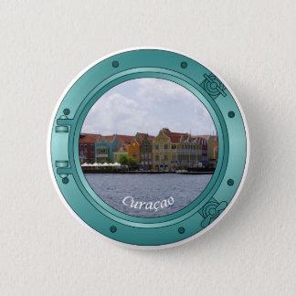 Curacao Porthole Pinback Button