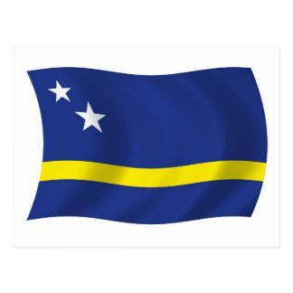 Curaçao señala la postal por medio de una bandera