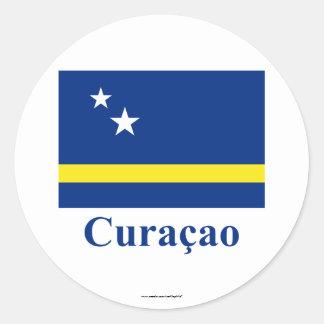 Curaçao señala por medio de una bandera con nombre etiquetas redondas