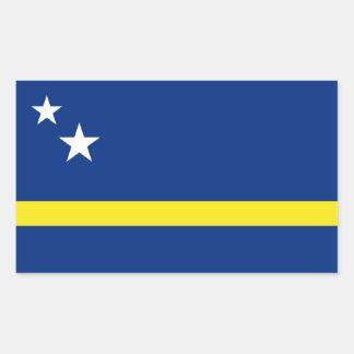 Curaçao señala por medio de una bandera, Países Pegatina Rectangular