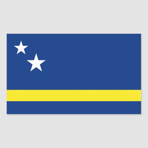 Curaçao señala por medio de una bandera pegatina rectangular