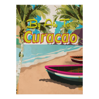 Curacao Vintage Travel Poster