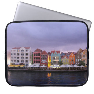 Curacao: Willemstad in purple Dusk Laptop Sleeve