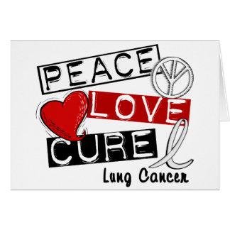 CURACIÓN 1 del AMOR de la PAZ del cáncer de pulmón Tarjetón