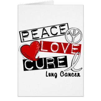 CURACIÓN 1 del AMOR de la PAZ del cáncer de pulmón Tarjetas