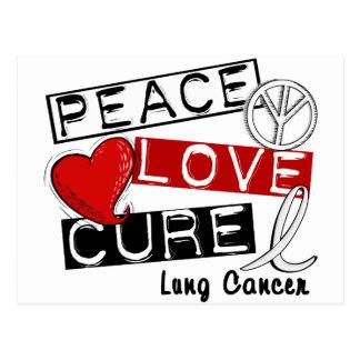 CURACIÓN 1 del AMOR de la PAZ del cáncer de pulmón Tarjetas Postales
