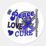 Curación 2 CFS del amor de la paz Etiqueta Redonda