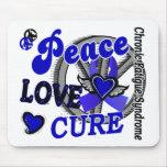 Curación 2 CFS del amor de la paz Alfombrillas De Ratones