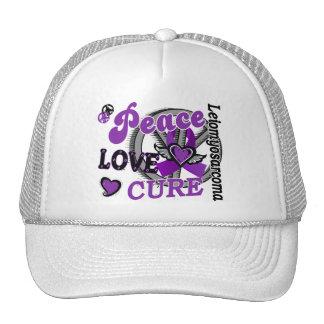 Curación 2 Leiomyosarcoma del amor de la paz Gorras