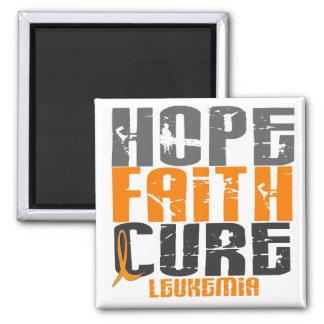CURACIÓN de FE de la ESPERANZA de la leucemia Imanes De Nevera