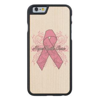 Curación de fe de la esperanza del Flourish del Funda De iPhone 6 Carved® De Arce
