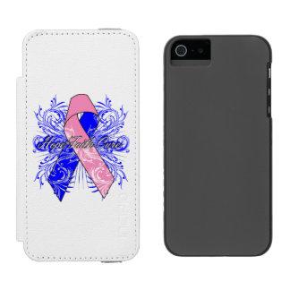 Curación de fe masculina de la esperanza del funda billetera para iPhone 5 watson