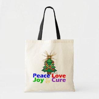 Curación de la alegría del amor de la paz del auti bolsas