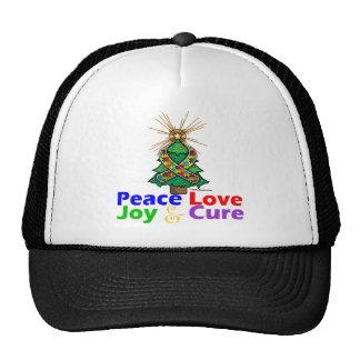 Curación de la alegría del amor de la paz del auti gorras