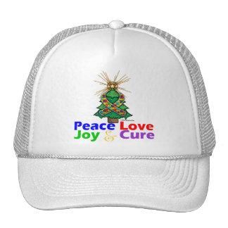 Curación de la alegría del amor de la paz del auti gorra