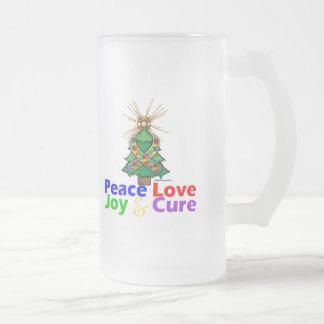 Curación de la alegría del amor de la paz del auti tazas