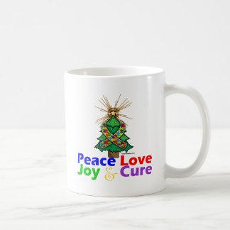 Curación de la alegría del amor de la paz del auti tazas de café