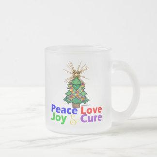 Curación de la alegría del amor de la paz del auti taza de café