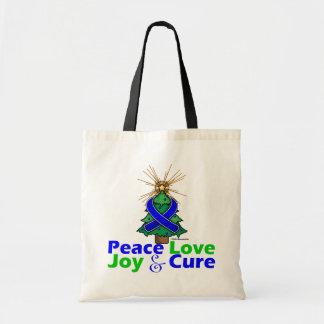 Curación de la alegría del amor de la paz del cánc bolsa