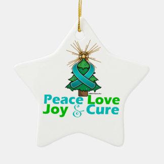 Curación de la alegría del amor de la paz del cánc ornamento para reyes magos