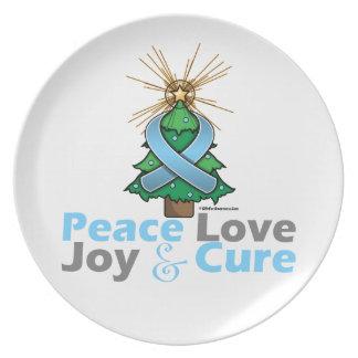 Curación de la alegría del amor de la paz del cánc platos