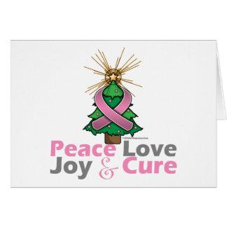 Curación de la alegría del amor de la paz del cánc tarjeta de felicitación