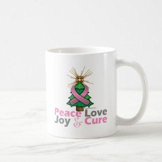 Curación de la alegría del amor de la paz del cánc taza básica blanca